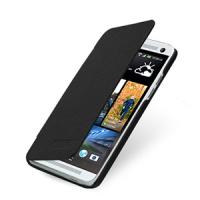 Кожаный чехол книжка горизонтальная (нат. кожа) для HTC One Mini
