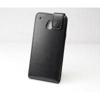 Чехол вертикальная книжка с магнитной защелкой для HTC One Mini Черный
