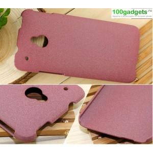 Пластиковый матовый чехол для HTC One Mini Бордовый