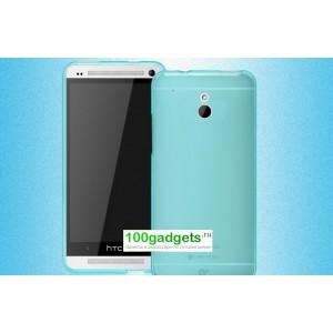 Силиконовый бампер для HTC One Mini Голубой