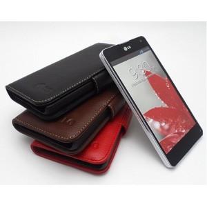 Кожаный чехол портмоне (нат. кожа) для LG Optimus G
