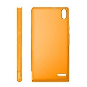 Оригинальный пластиковый полупрозрачный ультратонкий чехол для Huawei Ascend P6 Оранжевый