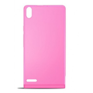 Оригинальный пластиковый полупрозрачный ультратонкий чехол для Huawei Ascend P6 Розовый