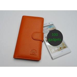 Кожаный чехол портмоне (нат. кожа) для Huawei Ascend P6