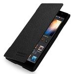 Кожаный чехол книжка горизонтальная (нат. кожа) для Huawei Ascend P6