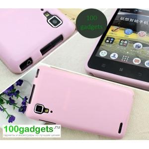 Силиконовый чехол для Lenovo P780 Ideaphone Розовый