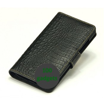 Кожаный чехол портмоне (нат. кожа крокодила) для Philips W6610 Xenium