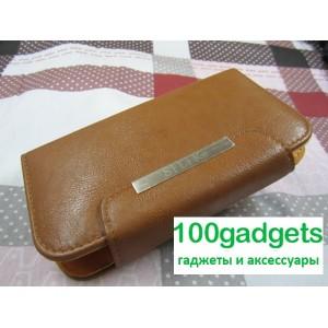 Чехол портмоне с защелкой на зажимах для Philips Xenium W8555