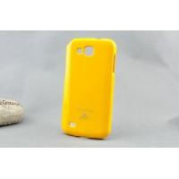 Силиконовый чехол премиум для Samsung Galaxy Premier Желтый