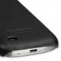 Кожаный чехол (нат. кожа) Back Cover для Samsung Galaxy S4 Mini черный
