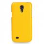 Кожаный чехол (нат. кожа) Back Cover для Samsung Galaxy S4 Mini желтый
