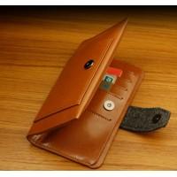 Кожаный чехол трансформер (нат. кожа) для Samsung Galaxy S4 Mini Коричневый