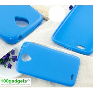Бампер для Lenovo S820 Ideaphone Голубой