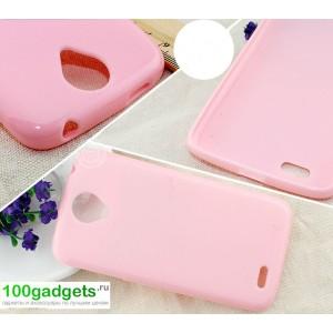 Бампер для Lenovo S820 Ideaphone Розовый