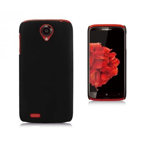 Пластиковый чехол для Lenovo S820 Ideaphone Черный