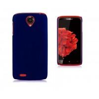 Пластиковый чехол для Lenovo S820 Ideaphone Синий