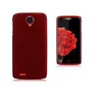 Пластиковый чехол для Lenovo S820 Ideaphone Красный