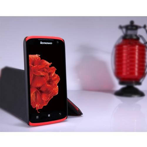 Пластиковый матовый премиум чехол для Lenovo S820 Ideaphone