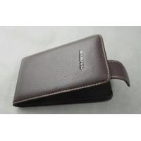 Кожаный чехол книжка вертикальная (нат. кожа) для Lenovo IdeaPhone S920 Коричневый