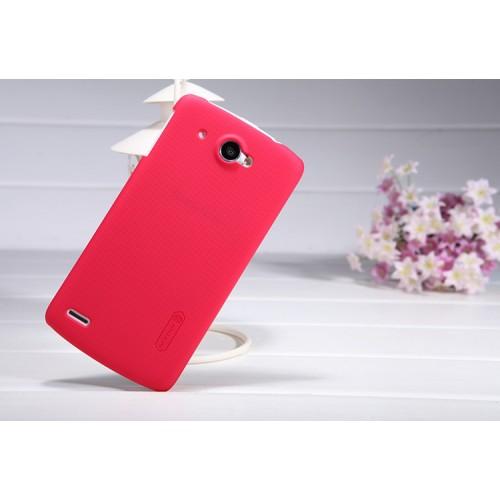 Пластиковый матовый чехол премиум для Lenovo IdeaPhone S920 Красный