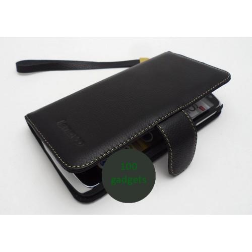 Кожаный чехол портмоне (нат. кожа) для Lenovo IdeaPhone S920