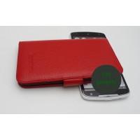 Кожаный чехол портмоне (нат. кожа) для Lenovo IdeaPhone S920 Красный