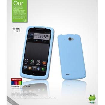 Силиконовый чехол премиум для Lenovo IdeaPhone S920 Голубой