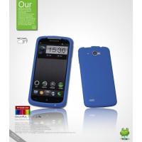 Силиконовый чехол премиум для Lenovo IdeaPhone S920 Синий
