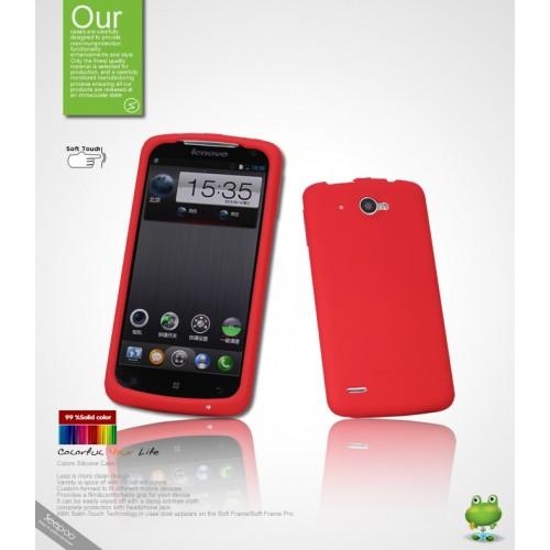 Силиконовый чехол премиум для Lenovo IdeaPhone S920 Белый