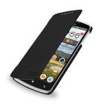 Кожаный чехол книжка горизонтальная (нат. кожа) для Lenovo IdeaPhone S920
