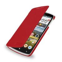 Кожаный чехол книжка горизонтальная (нат. кожа) для Lenovo IdeaPhone S920 Красный