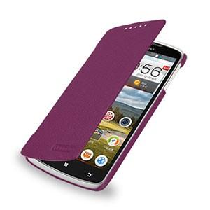 Кожаный чехол книжка горизонтальная (нат. кожа) для Lenovo IdeaPhone S920 Фиолетовый