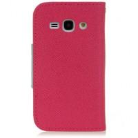 Чехол портмоне подставка с заклепкой для Samsung Galaxy Ace 3 Розовый