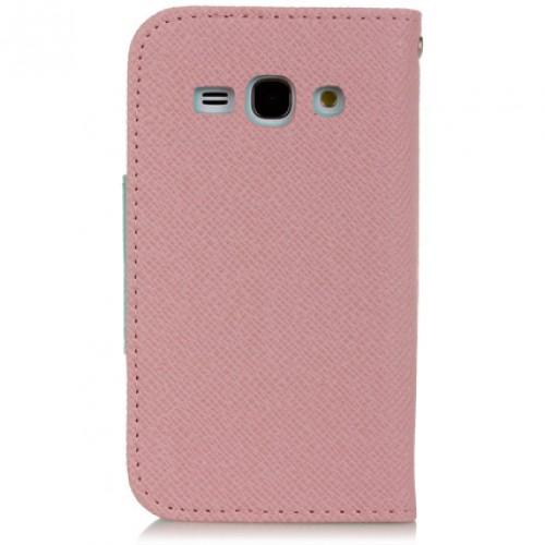 Чехол портмоне подставка с заклепкой для Samsung Galaxy Ace 3 Зеленый