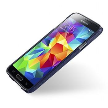 Кожаный чехол накладка (нат. кожа) серия Back Cover для Samsung Galaxy S5