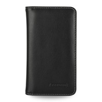 Эксклюзивный кожаный чехол портмоне подставка (нат. кожа) для Samsung Galaxy S5 черный
