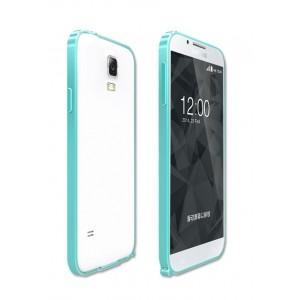 Металлический бампер для Samsung Galaxy S5 Голубой