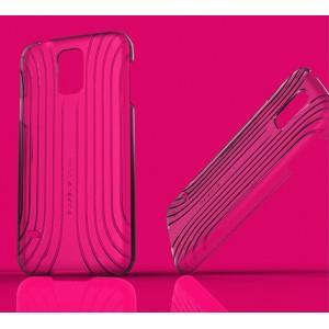 Пластиковый ультратонкий чехол с рельефной текстурой серия Blurred Lines для Samsung Galaxy S5
