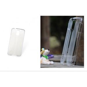 Пластиковый ультратонкий чехол с рельефной текстурой серия Blurred Lines для Samsung Galaxy S5 Белый