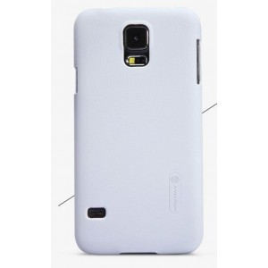 Пластиковый матовый премиум чехол для Samsung Galaxy S5 Белый