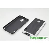 Силиконовый двухцветный чехол серия Cubes для Samsung Galaxy S5 Белый
