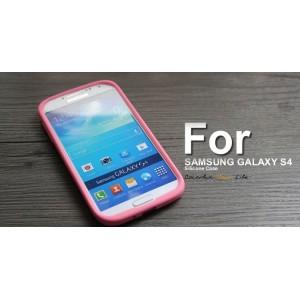 Силиконовый софт-тач премиум чехол для Samsung Galaxy S5 Розовый
