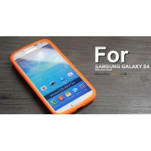 Силиконовый софт-тач премиум чехол для Samsung Galaxy S5 Оранжевый