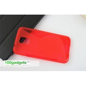 Силиконовый чехол S для Samsung Galaxy S5 Красный