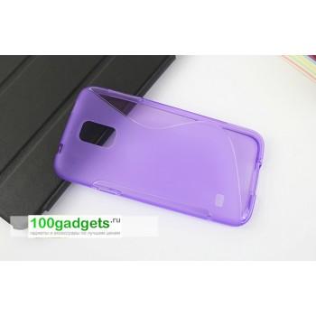 Силиконовый чехол S для Samsung Galaxy S5 Фиолетовый