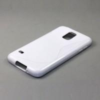 Силиконовый чехол S для Samsung Galaxy S5 Белый