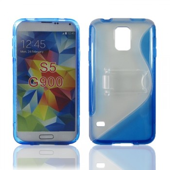 Силиконовый чехол S подставка для Samsung Galaxy S5