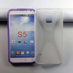 Силиконовый чехол X для Samsung Galaxy S5 Серый