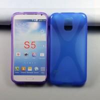 Силиконовый чехол X для Samsung Galaxy S5 Голубой