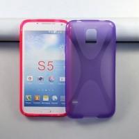Силиконовый чехол X для Samsung Galaxy S5 Фиолетовый